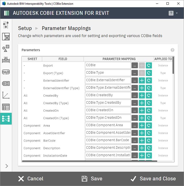 Autodesk COBie Extension for Revit