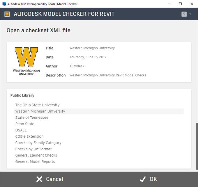 Autodesk Model Checker for Revit