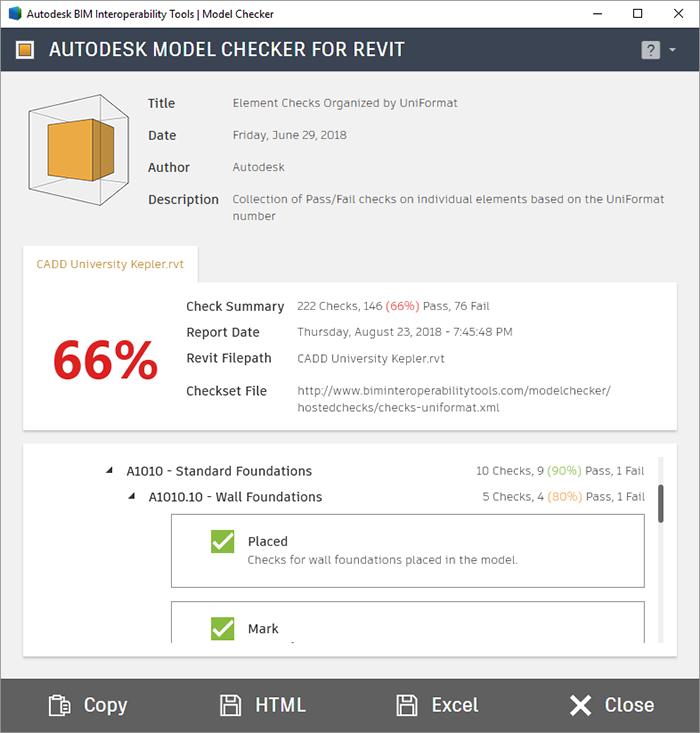 Autodesk Model Checker for Revit